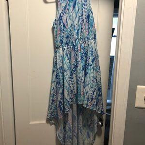 Dresses - High-low women's flowy dress